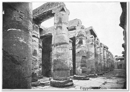 ruins of an anicnetEgyptian temple