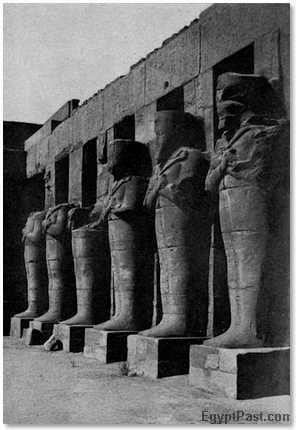 Silent Sentinels of Ean Egyptian Temple