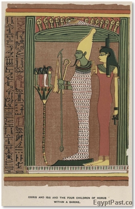 Osiris and Isis and the Four Children of Horus