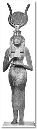 Egytian Statue of a Woman With Ceremonial Head Dress